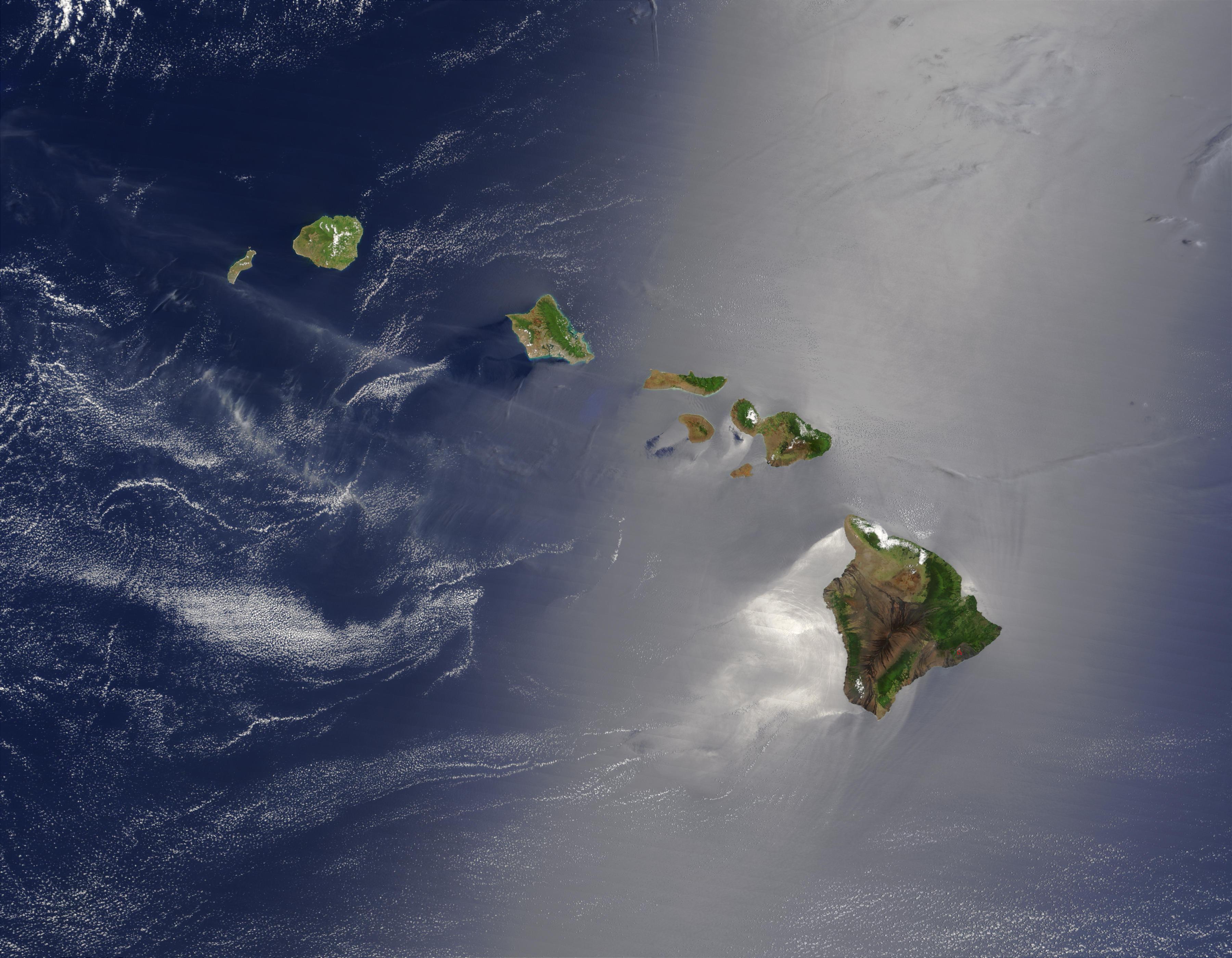 hawaii map satellite