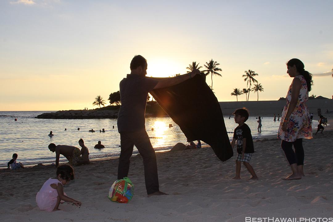 Aulani Disney Resort Hawaii beach Sunset Family by BestHawaii.photos 2015_09082015_7095