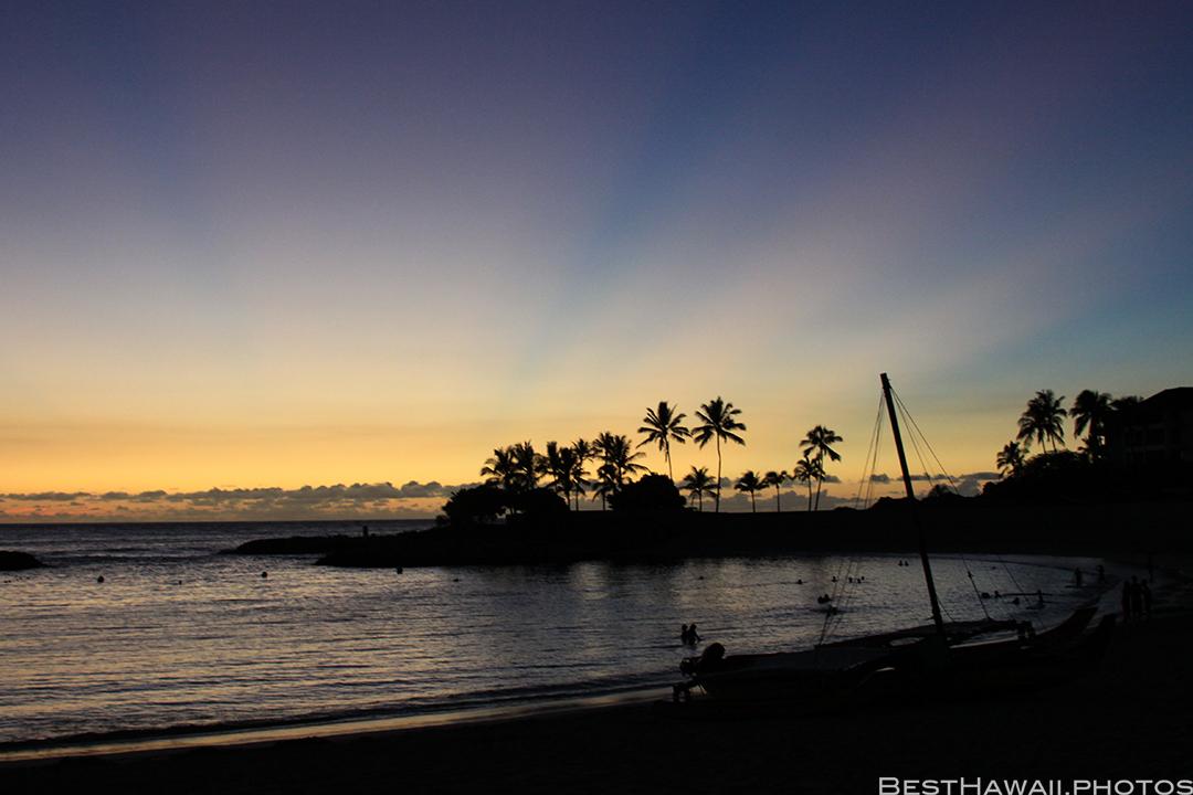 Aulani Disney Resort Hawaii beach Sunset Family by BestHawaii.photos 2015_09082015_7270