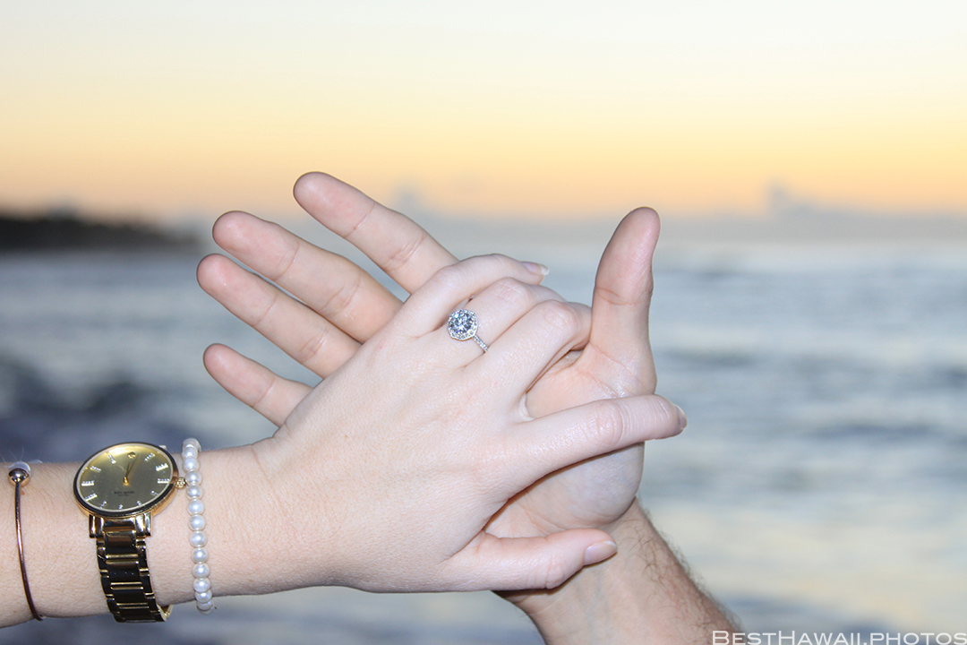 Diamond Head Beach Sunrise Engagement by Pasha www.BestHawaii.photos 011020168311