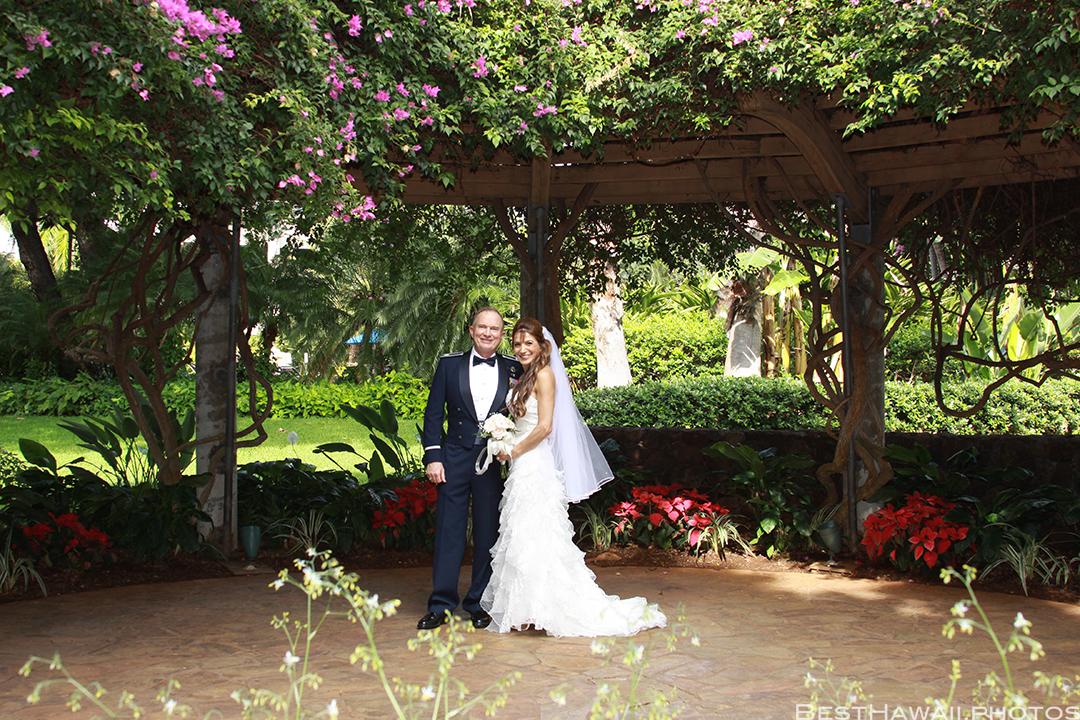 Wedding at Hale Koa Hotel by Pasha www.BestHawaii.photos 121820158493 - beach wedding gazebo